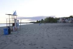 Bedöva sikter av Lake Erie: Port Stanley Ontario Canada: Royaltyfria Foton