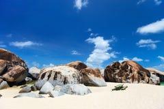 Bedöva stranden på karibiskt Arkivfoton