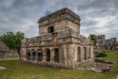 Bedöva tulum Mexiko forntida civilisation royaltyfri foto