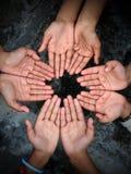 Bedürftige Hände stockfotos