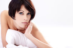 In bed Royalty Free Stock Photo