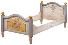 Bed. In the style of period furniture on white background, path included Stock Images