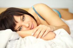 In bed Royalty Free Stock Images