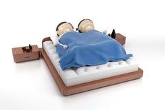 In bed royalty-vrije illustratie