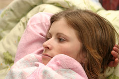In Bed stock image