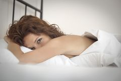 In the bed Stock Photography
