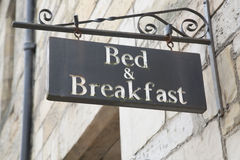 Free Bed And Breakfast Sign Royalty Free Stock Photos - 87875218