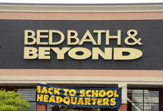 Bed Bath & Beyond logo Royalty Free Stock Images