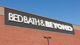 Bed Bath And Beyond Sign. DARTMOUTH, CANADA - AUGUST 31, 2016: Bed Bath & Beyond retail outlet. Bed Bath & Beyond is a chain of retail stores in the United Royalty Free Stock Photo