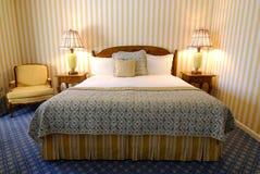 Bed in Bedroom stock photo
