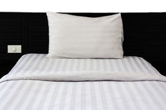 Bed in bedroom Stock Photography