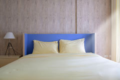 Bed in bedroom. Royalty Free Stock Photos