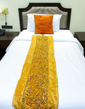 Bed with bedspread Royalty Free Stock Image