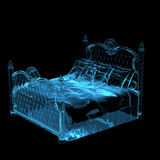 Bed Blue transparent 3D Stock Photography