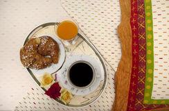 Bed breakfast royalty free stock images