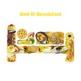 Bed & Breakfast Royalty Free Stock Photography