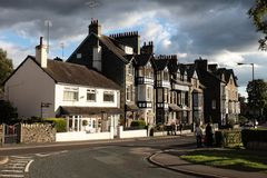 Bed and breakfast in Ambleside England. Typical stone building in Ambleside  by lake Windermere of the lake district in England Royalty Free Stock Photos