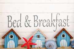 Bed and breakfast. At the coast Stock Photography