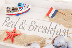 Bed and breakfast. At the coast Royalty Free Stock Photos