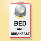 Bed And Breakfast Indicates Place To Stay And Accommodation Stock Photos