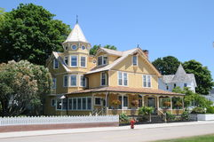 Bed and breakfast on Mackinac island Michigan Stock Photography