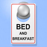 Bed And Breakfast Means Place To Stay And Cuisine Royalty Free Stock Images