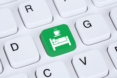 Bed and Breakfast room online internet booking Royalty Free Stock Photo