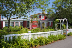 Bed and breakfast seaside inn. Bed and breakfast inn with colonial architecture on Cape Cod stock image