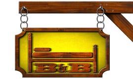 Bed and breakfast - segno con la catena Immagine Stock Libera da Diritti