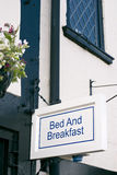 Bed and breakfast sign. Suffolk. England Royalty Free Stock Photography