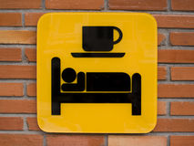 Bed and Breakfast sign. Stock Photo