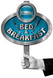 Bed and Breakfast - Sign with Hand of a Concierge Stock Photography