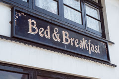 Bed & Breakfast. A Bed & Breakfast Sign on a property in England Royalty Free Stock Photo