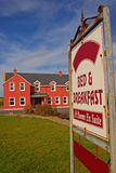 Bed and Breakfast Signboard and Beautiful Building Royalty Free Stock Photo