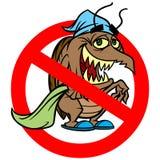 Bed Bug Ban. Cartoon illustration of a Bed Bug Ban royalty free illustration