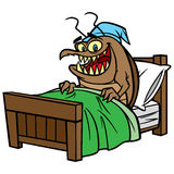 Bed Bug in Bed. Cartoon illustration of a Bed Bug in Bed royalty free illustration