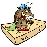 Bed Bug on Mattress Royalty Free Stock Image