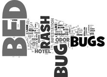 Bed Bug Rashword Cloud Stock Photo