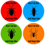 Bed bugs. Dont let the bed bugs bite Stock Images