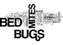 Bed Bugs Mites Spray Word Cloud Stock Images
