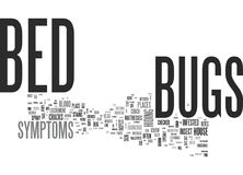 Bed Bugs Symptoms Word Cloud. BED BUGS SYMPTOMS TEXT WORD CLOUD CONCEPT Stock Photo