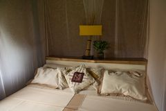 Bed with canopy Royalty Free Stock Photography