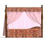 bed canopyen louis xv Arkivbilder