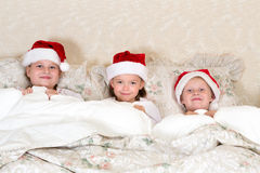 In bed on christmas day Stock Photo