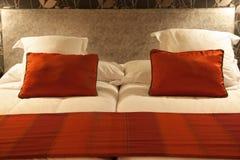 Bed closeup Stock Image