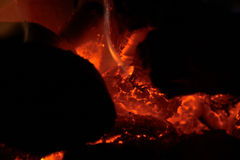 Bed of Coals Royalty Free Stock Photos