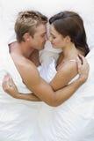 bed couple Στοκ φωτογραφία με δικαίωμα ελεύθερης χρήσης