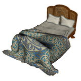 Bed - 3D render Royalty Free Stock Images