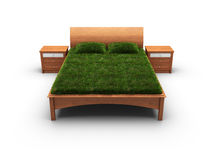 Bed designed as an herbal Royalty Free Stock Image