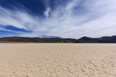 Bed of a dry lake with cracked clay Stock Photography